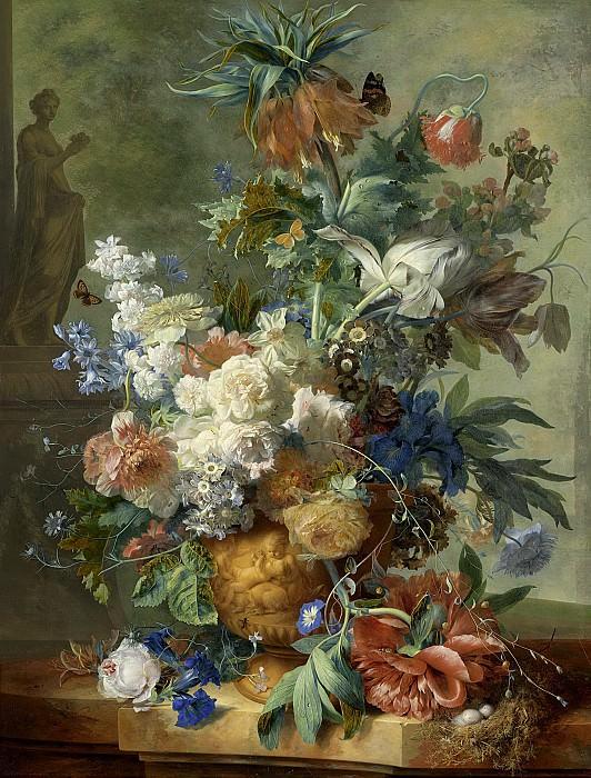 Huysum, Jan van -- Stilleven met bloemen, 1723. Rijksmuseum: part 1