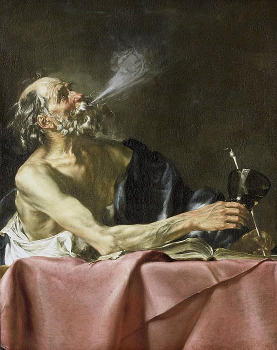 Джованни Серодин -- Курильщик; аллегория быстрого превращения в покойника, 1615-1625. Рейксмузеум: часть 1