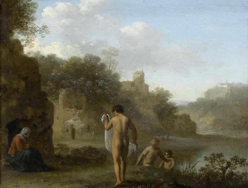 Poelenburch, Cornelis van -- Badende mannen, 1646. Rijksmuseum: part 1