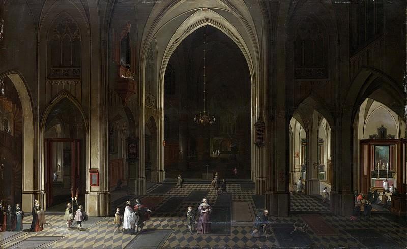 Neefs, Pieter (I) -- Een kerkinterieur bij kaarslicht, 1636. Rijksmuseum: part 1