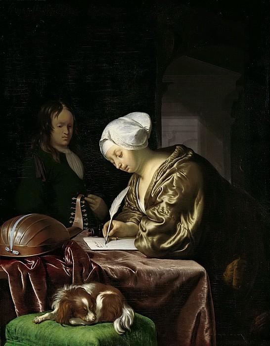 Mieris, Frans van (I) -- De briefschrijfster, 1680. Rijksmuseum: part 1