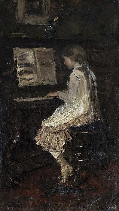 Maris, Jacob -- Meisje aan de piano, 1879. Rijksmuseum: part 1