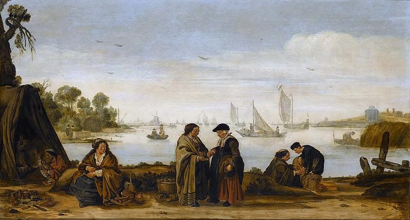 Arentsz., Arent -- Rivierlandschap met zigeuners., 1625 - 1631. Rijksmuseum: part 1
