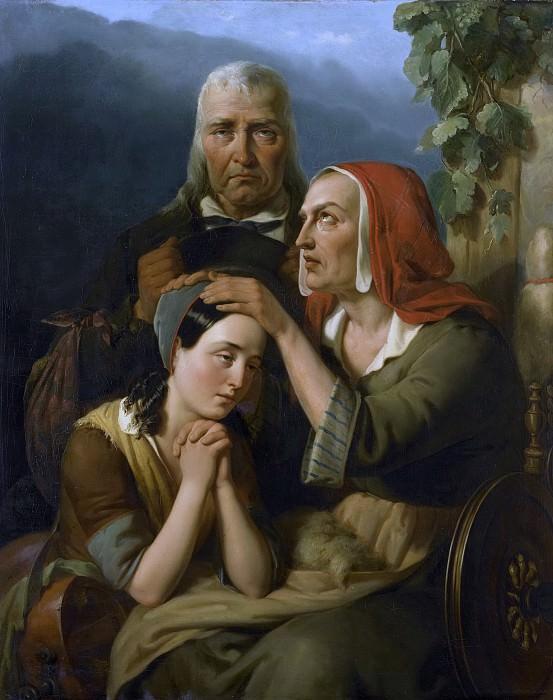 Мориц Калиш -- Материнское благословение, 1844. Рейксмузеум: часть 1