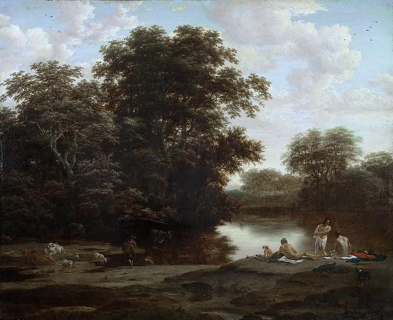 Haagen, Joris van der -- Landschap met baders, 1655-1669. Rijksmuseum: part 1