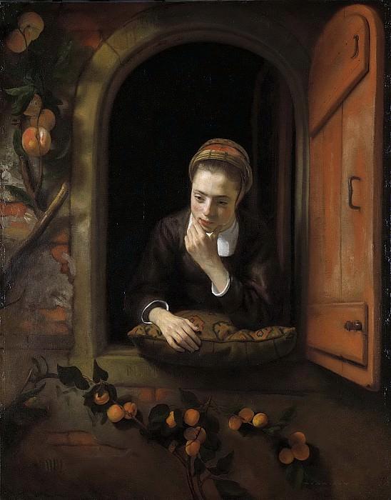 Maes, Nicolaes -- Meisje aan het venster, bekend als 'De peinzende, 1650-1660. Rijksmuseum: part 1
