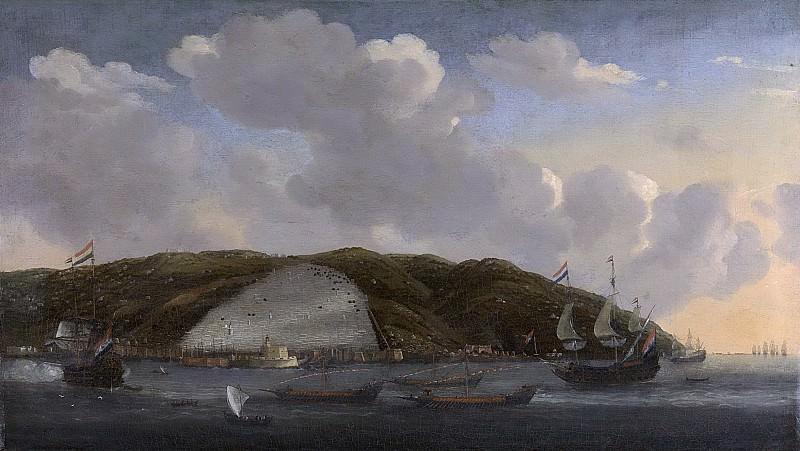 Nooms, Reinier -- Gezicht op Algiers met de Ruyters schip 'De Liefde', 1662, 1662 - 1668. Rijksmuseum: part 1