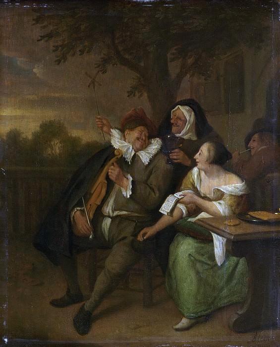 Steen, Jan Havicksz. -- Man met een viool in slecht gezelschap, 1670-1700. Rijksmuseum: part 1