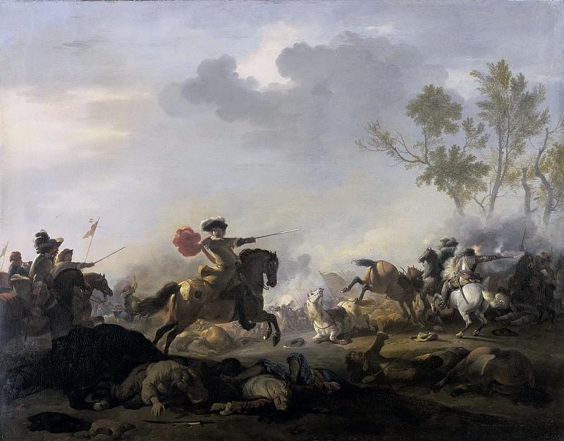 Huchtenburg, Jan van -- Ruitergevecht, 1680-1700. Rijksmuseum: part 1