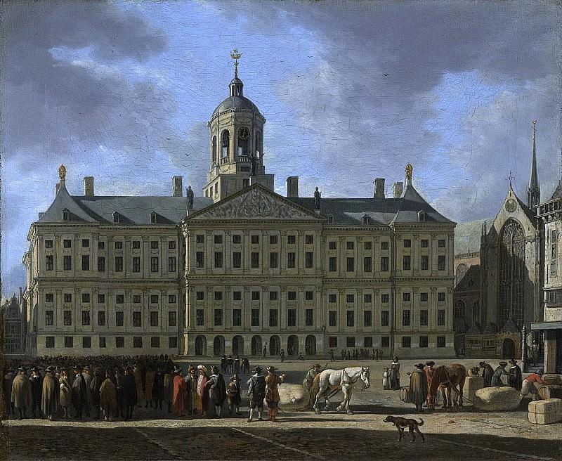 Berckheyde, Gerrit Adriaensz. -- Het stadhuis op de Dam te Amsterdam, 1672. Rijksmuseum: part 1