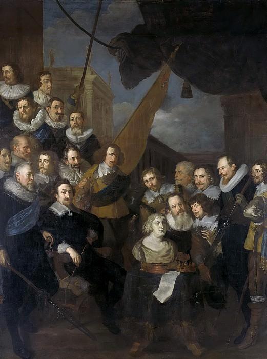 Sandrart, Joachim von -- Officieren en andere schutters van wijk XIX in Amsterdam onder leiding van kapitein Cornelis Bicker en luitenant Frederick van Banchem, 1640. Rijksmuseum: part 1