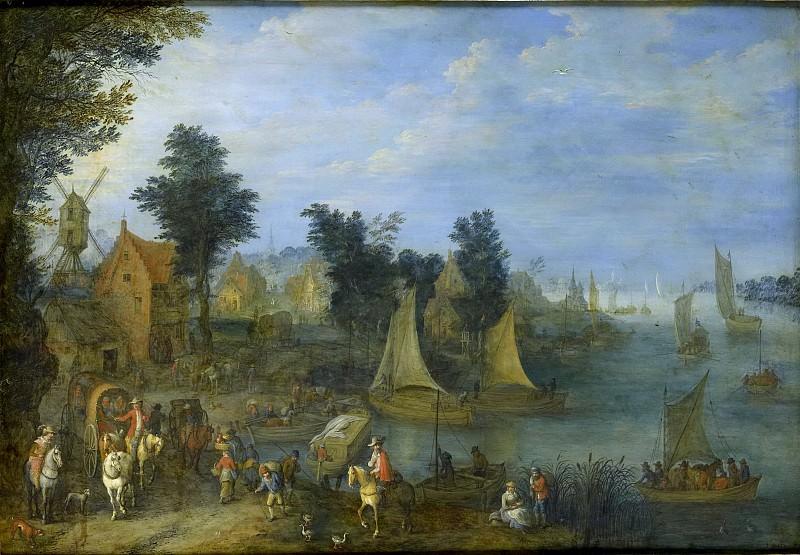 Bredael, Joseph van -- Dorp aan de oever van een rivier., 1723. Rijksmuseum: part 1