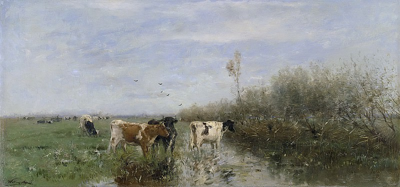 Maris, Willem -- Koeien in een drassig weiland, 1860 - 1900. Rijksmuseum: part 1