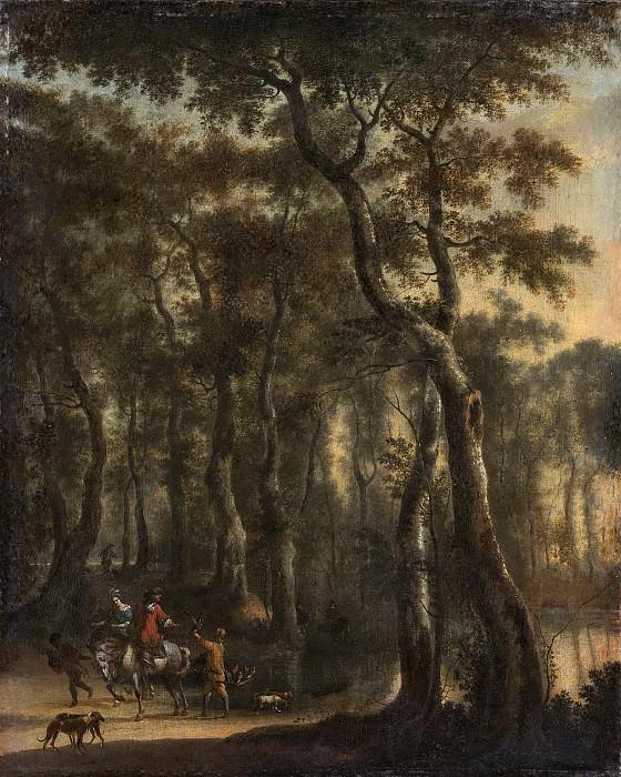Hackaert, Jan -- Bosgezicht met jagers, 1660-1685. Rijksmuseum: part 1
