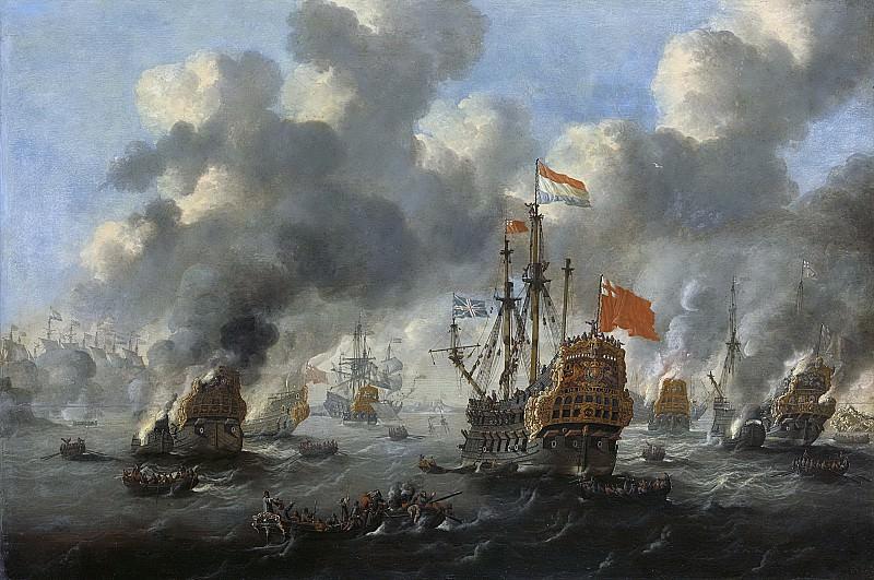 Velde, Peter van de -- Het verbranden van de Engelse vloot voor Chatham, 20 juni 1667, 1667-1700. Rijksmuseum: part 1