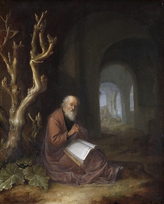 Staveren, Jan Adriaensz. van -- Een biddende kluizenaar in een ruïne, 1650-1668. Rijksmuseum: part 1