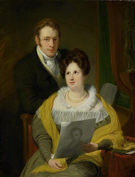 Pieneman, Jan Willem -- Portret van een dame en een heer, 1829. Rijksmuseum: part 1