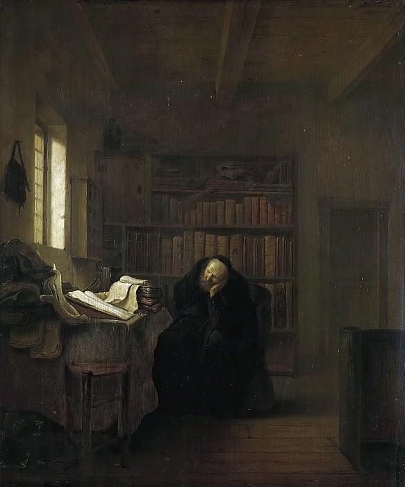 Koninck, Salomon -- Een geleerde in zijn studeerkamer, 1635 - 1656. Rijksmuseum: part 1