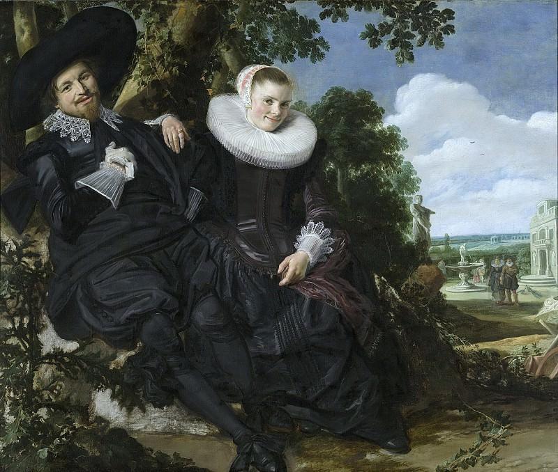 Hals, Frans -- Portret van een stel in een landschap, waarschijnlijk Isaac Abrahamsz Massa (1586-1643) en Beatrix van der Laen (1592-1639), 1622. Rijksmuseum: part 1