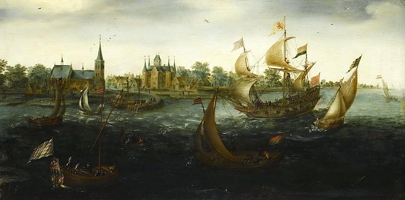 Anthonisz., Aert -- Schepen voor IJselmonde, 1617. Rijksmuseum: part 1