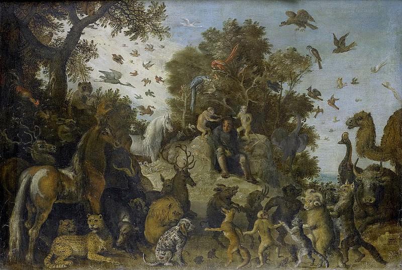 Savery, Roelant -- De dichter op het feest der dieren gekroond door twee apen, 1623. Rijksmuseum: part 1