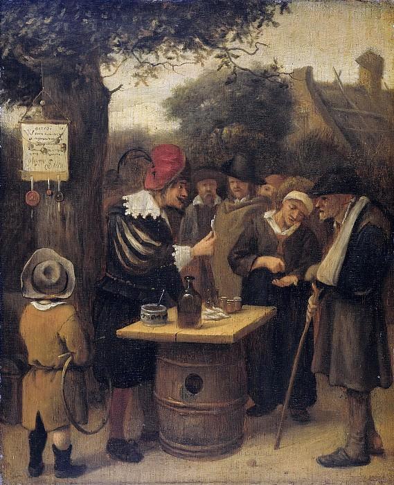 Steen, Jan Havicksz. -- De kwakzalver, 1650-1679. Rijksmuseum: part 1