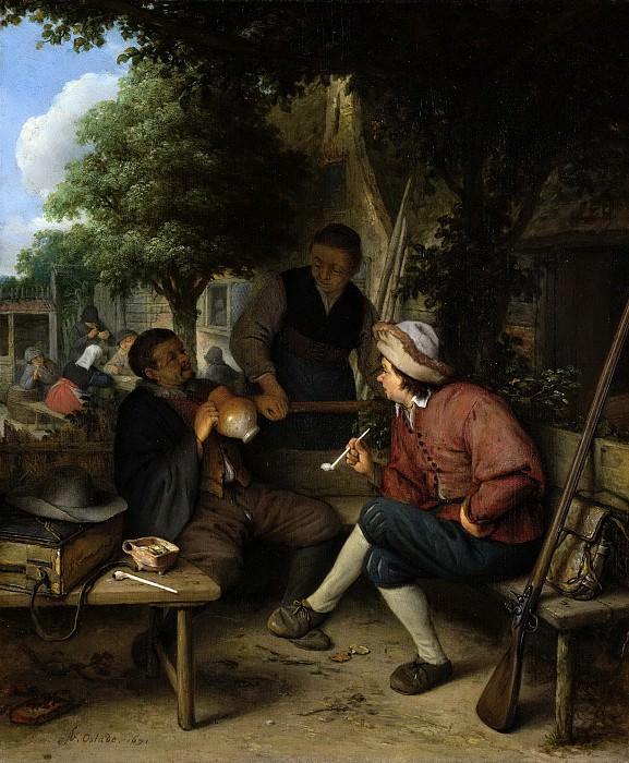 Ostade, Adriaen van -- Rustende reizigers, 1671. Rijksmuseum: part 1