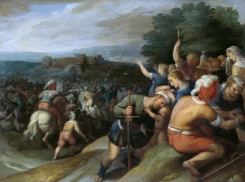 Отто ван Веен -- Батавы, окружающие римлян у Ветеры, 1600-1613. Рейксмузеум: часть 1