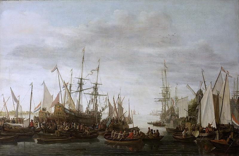 Verschuier, Lieve Pietersz. -- Het kielhalen (volgens overlevering) van de scheepschirurgijn van admiraal Jan van Nes, 1660-1686. Rijksmuseum: part 1
