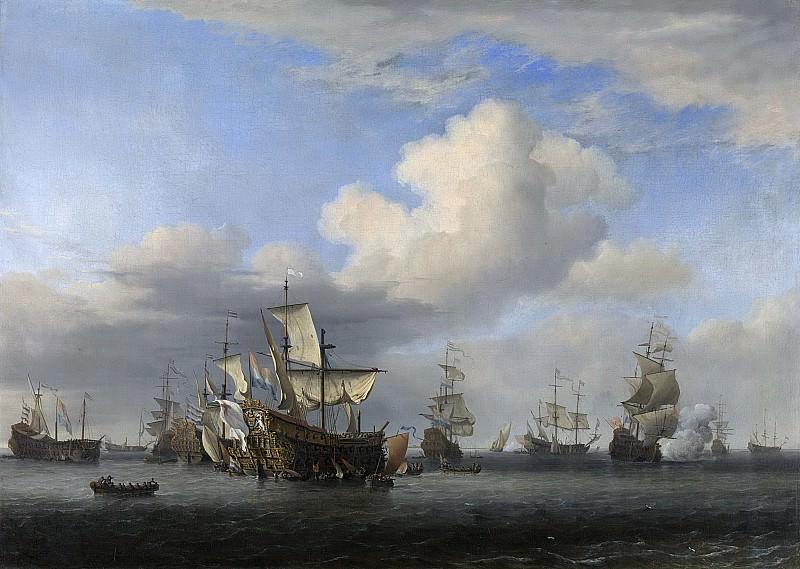 Velde, Willem van de (II) -- De veroverde schepen 'Swiftsure', 1666-1667. Rijksmuseum: part 1