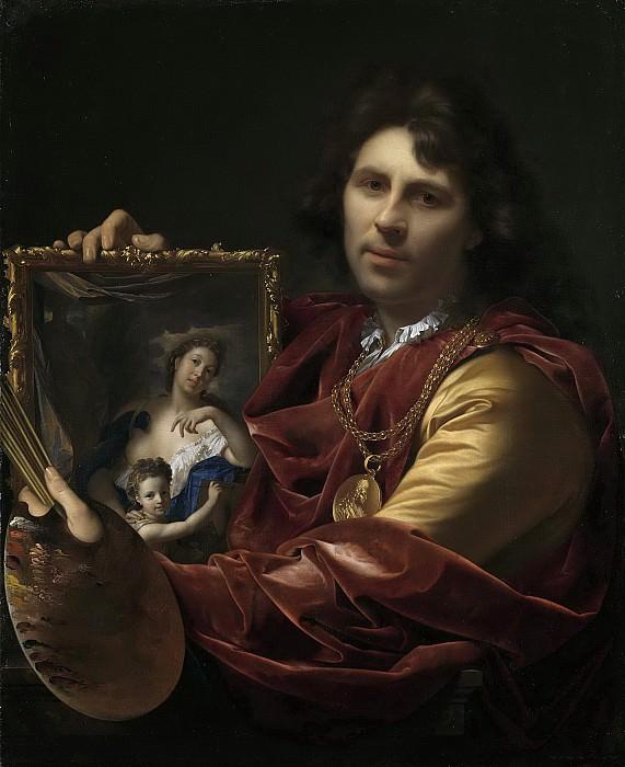 Werff, Adriaen van der -- Zelfportret met het portret van zijn vrouw Margaretha van Rees en hun dochtertje Maria, 1699. Rijksmuseum: part 1