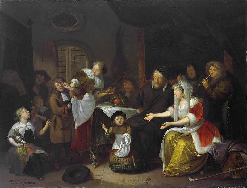 Brakenburg, Richard -- Het Sint Nicolaasfeest., 1685. Rijksmuseum: part 1