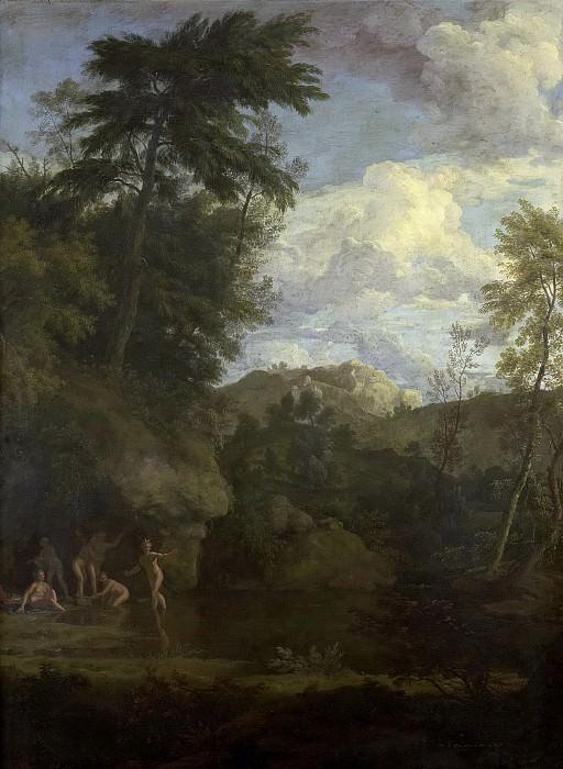 Йоханнес Глаубер -- Пасторальный пейзаж с купающейся Дианой, 1680-1726. Рейксмузеум: часть 1