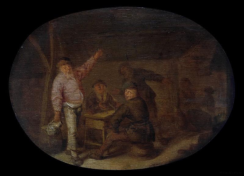 Verelst, Pieter Hermansz. -- Drinkende boeren in een schuur, 1628 - 1650. Rijksmuseum: part 1