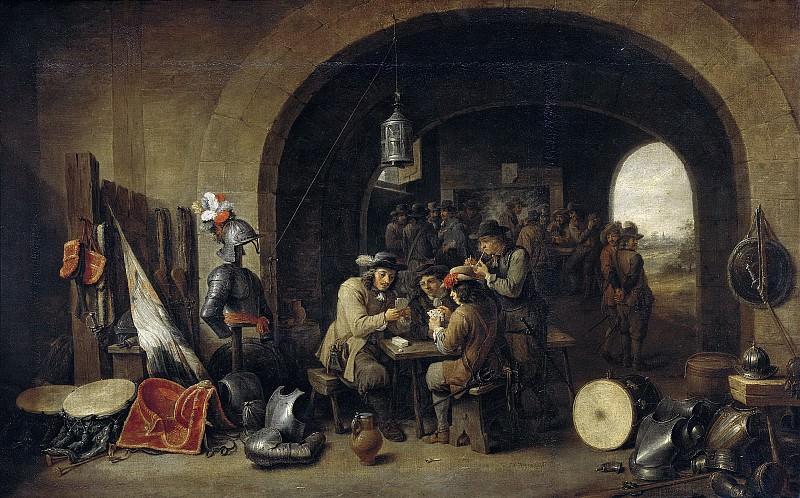 Teniers, David (II) -- Soldatenwacht, 1641. Rijksmuseum: part 1