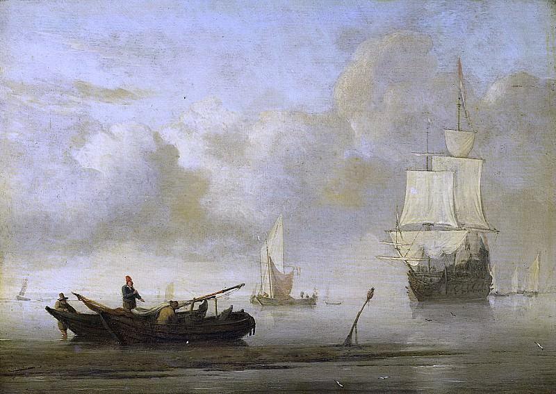 Velde, Willem van de (II) -- Schepen voor de kust tijdens windstilte, 1650 - 1707. Rijksmuseum: part 1