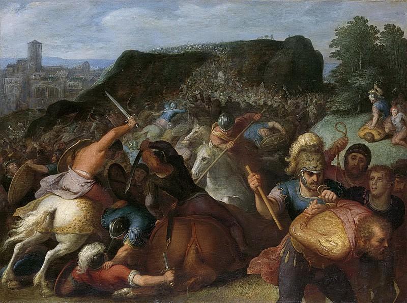 Veen, Otto van -- Valentinus wordt krijgsgevangen gemaakt, 1600-1613. Rijksmuseum: part 1