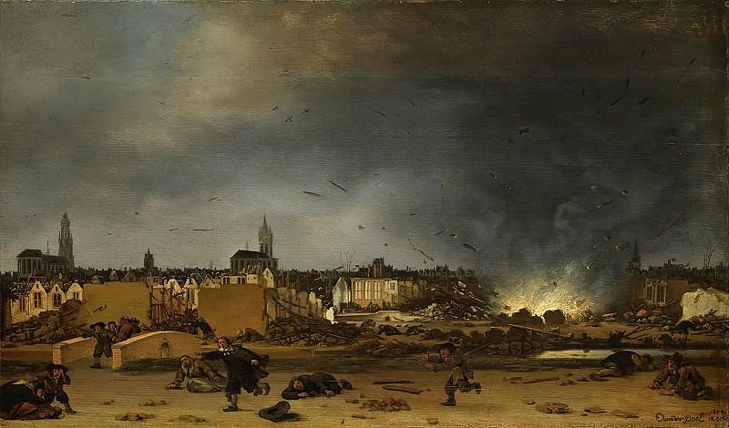 Poel, Egbert Lievensz. van der -- Het springen van de kruittoren in Delft, 12 oktober 1654, 1654 - 1660. Rijksmuseum: part 1