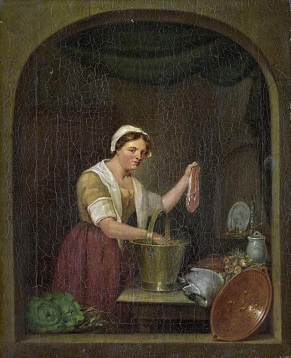 Ruyter, Jan de -- De keukenmeid, 1820. Rijksmuseum: part 1