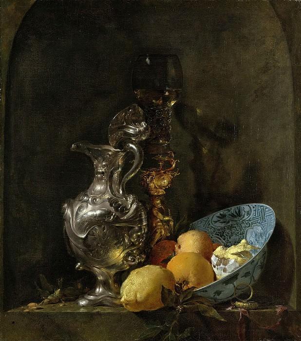 Кальф, Виллем - Натюрморт с серебряным кувшином, 1655-60. Рейксмузеум: часть 1