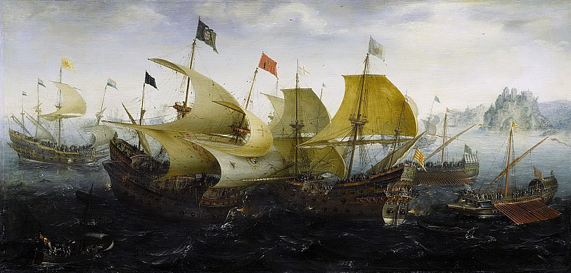 Anthonisz., Aert -- Slag bij Cadix, 1608. Rijksmuseum: part 1
