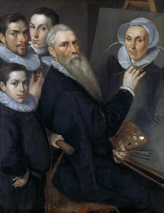 Delff, Jacob Willemsz. (I) -- Zelfportret van de schilder met zijn gezin, 1594. Rijksmuseum: part 1