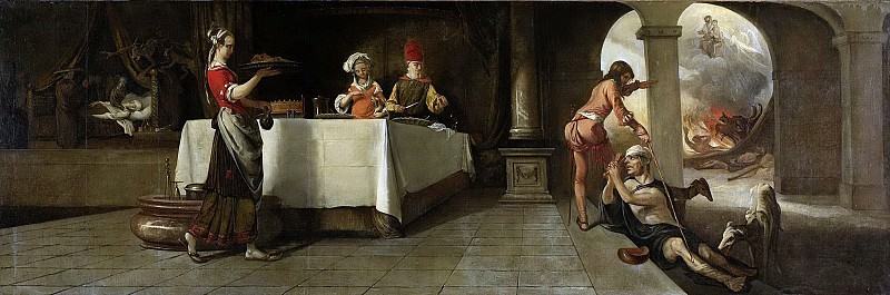 Fabritius, Barent -- De rijke man en de arme Lazarus, 1661. Rijksmuseum: part 1
