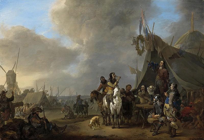 Lingelbach, Johannes -- Legerplaats, 1650 - 1674. Rijksmuseum: part 1