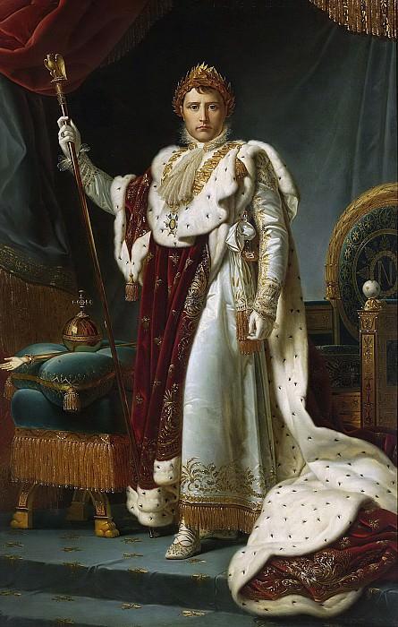 Gérard, François Pascal Simon (Baron) -- Keizer Napoleon I in kroningsgewaad, 2 december 1804, 1805 - 1815. Rijksmuseum: part 1