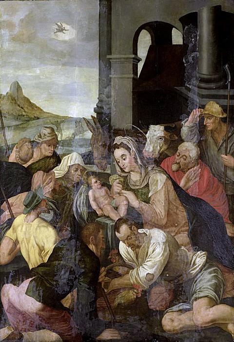 Unknown Artist -- De aanbidding der herders, 1550 - 1599. Rijksmuseum: part 1
