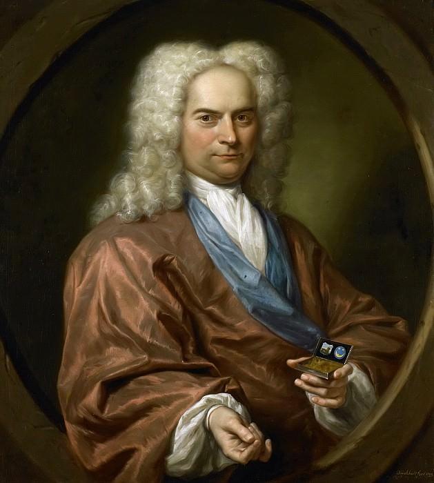 Quinkhard, Jan Maurits -- Portret van David Leeuw (1682-1755). Doopsgezind koopman in stoffen en manufacturen, 1729. Rijksmuseum: part 1