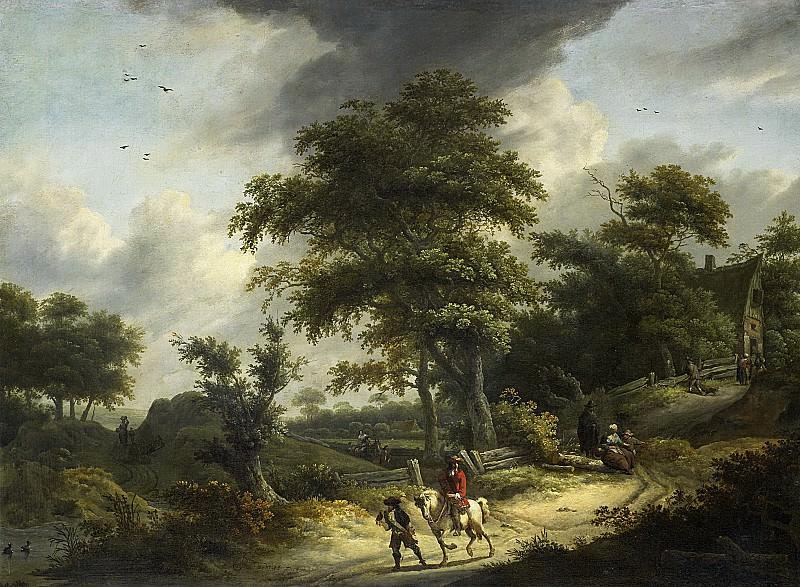Vries, Roelof Jansz. van -- Landschap met valkenier, 1650 - 1681. Rijksmuseum: part 1
