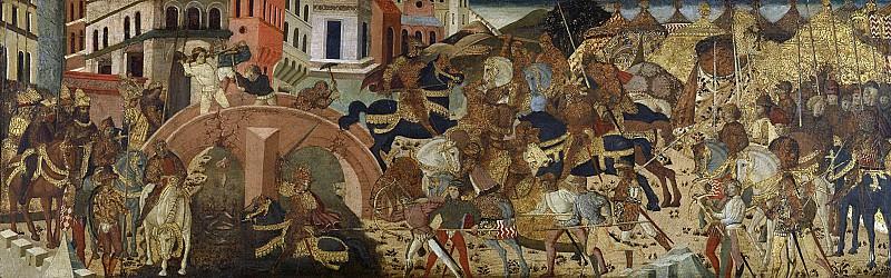 Неизвестный художник -- Гораций Коклес, защищающий Свайный мост, 1425 - 1474. Рейксмузеум: часть 1