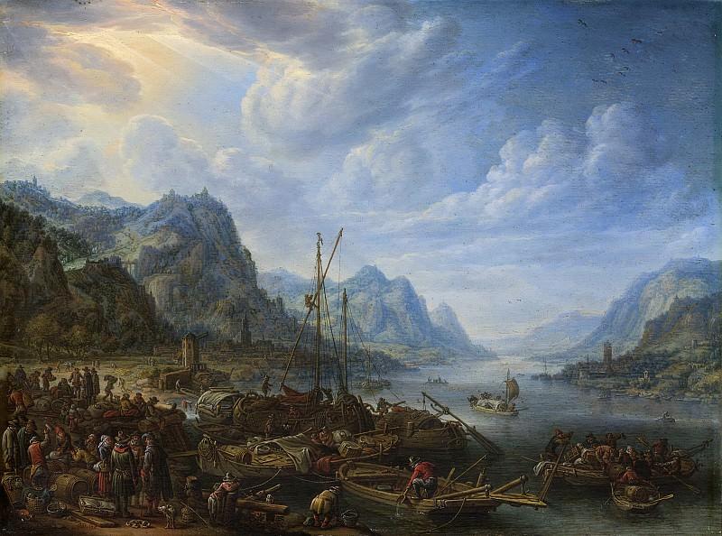Saftleven, Herman -- Riviergezicht met aanlegplaats, 1678. Rijksmuseum: part 1